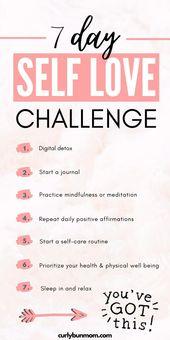 7 Day Self Love Challenge 1