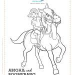 Spirit Riding Free Pru And Chica Linda Coloring Page Free