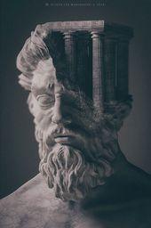 Artist schafft 3D-Skulpturen von alten Gottheiten und mythologischen Kreaturen mit …, #3DS…