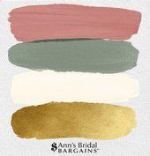 Die perfekte Palette: Dusty Rose, Gold, Elfenbein und Olive