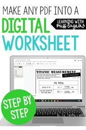 HOW TO: Make Any PDF an Editable Google Classroom Assessment – Learning with Miss LaGrow