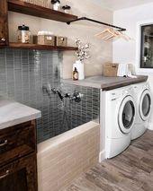 38 Funktionelle und stilvolle Waschküchen-Design-Ideen, die inspirieren – Interior