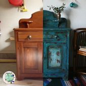 The Turquoise Iris ~ Vintage Modern Hand Painted Furniture   – do it