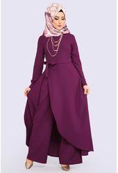 Modaselvim Zincir Kolyeli Tesettur Tulum Modelleri Moda Tesettur Giyim The Dress Moda Elbise
