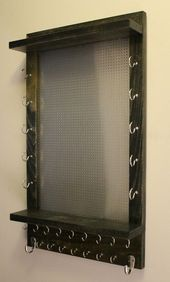 You Get to Pick the Stain and Mesh Wall Mounted Jewelry Organizer, Wall Organizer, Jewelry Di…