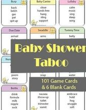 Baby Shower Songs Baby Shower Taboo Game