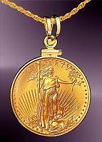 10 Dollar Gold Eagle Coin Necklace Ncm8 10e 20b8 Ncm8 10e 20 In 2020 Coin Necklace Gold Coin Necklace Silver Coin Necklace