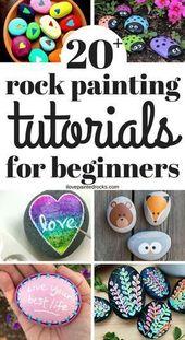 20 + Easy Rock Painting-Ideen für Anfänger #anfa…