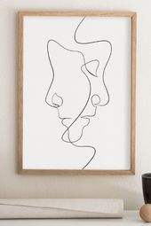 Minimales Gesicht Linie Kunstdruck minimalistisch …