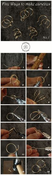 25+ ›Basics of Jewelry Making 4 – Five ways to make ear wires