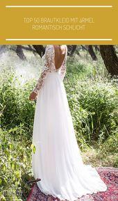 bröllopsklänning Topp 50 brudklänning med ärmar romantisk enkel #vestido novia vi …