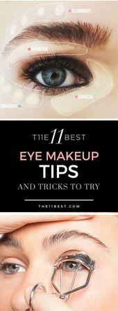Die 11 besten Tipps und Tricks zum Schminken von Augen #EyeMakeupChristmas   – Eye Makeup Christmas