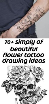 70+ simply of beautiful flower tattoo drawing ideas for women 158