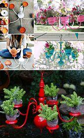 29 Wahnsinnig kreative DIY Pflanzer Ideen für Haushaltswaren … # Haushaltskrieg …   – DIY Garden Decor