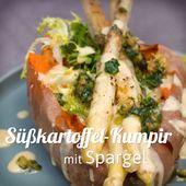 Kumpir de patata dulce con espárragos   – Spargel-Rezepte