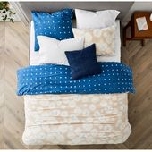Reversible Sand Dollar Shibori Duvet Cover is made from 100% organic cotton and …