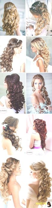 Elegant Wedding Hairstyles Curly Hair Half High