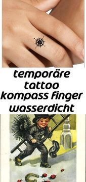 Temporäre tattoo kompass finger wasserdicht efake tattoos dünne langlebig 13 – Tattoos