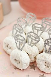 Cute donut rings! Beautiful Bridal Shower Decorations for the Modern Bride! Deco…