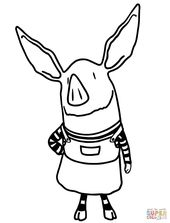 Olivia The Pig Super Coloring Cartoon Coloring Pages Peppa Pig Coloring Pages Cute Baby Pigs