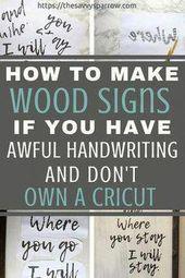 Klicken Sie hier, um zu erfahren, wie Sie einfache Holzschilder für Bauernhäuser ohne Schablone herstellen können! …   – Woodworking Plans Vintage