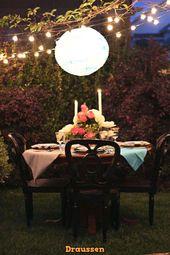 20 Ideen zum Einrichten eines romantischen Tisches – #Einrichten von # Ideen # …   – Diy Crafts