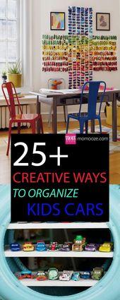 Über 25 kreative Wege, um Kinderautos zu organisieren