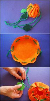 Einfache Kürbis-Festlichkeits-Tasche, die Kinder …