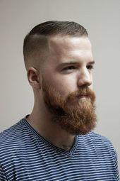 24 hochmoderne, kurze Frisuren mit Bart