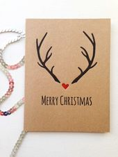 Christmas Card Units  Christmas Playing cards  Vacation Playing cards  Reindeer Antlers  Merry Christmas