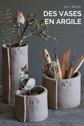 Poterie : fabriquer des vases en argile