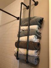 Industrial Pipe towel rack