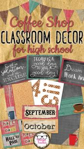 Center or Excessive Faculty Classroom Decor – Espresso Store Theme