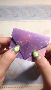 Origami wallet handmade video tutorial