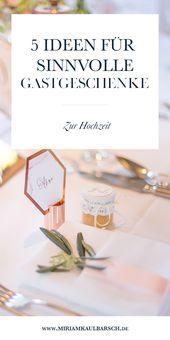 5 Ideen für sinnvolle Gastgeschenke zur Hochzeit · Miriam Kaulbarsch Hochzeitsfotografin Berlin