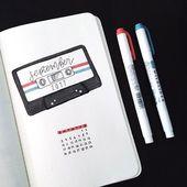 25 technology and social media bullet journal spread layout ideas – Donna Skiba