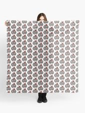 'Apple Colored with Zebra Pattern' Scarf by funartsforkids  – Gifts Ideas