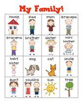 My Family! Writing Center – Kindergarten