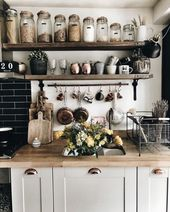 just love this modern, simple and rustic kitchen!