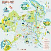 Carte Illustree De Bordeaux Metropole Tourisme Bordeaux Tourisme