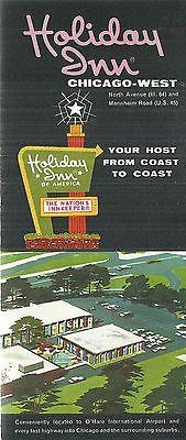 Vintage Brochure For Holiday Inn Chicago West Stone Park Illinois Holiday Inn Stone Park Vintage Hotels