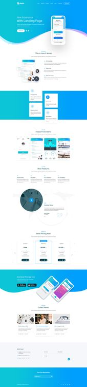 Plantilla PSD de la página de destino de Appio #Landing, #Appio, #Page, #Template   – Skirts