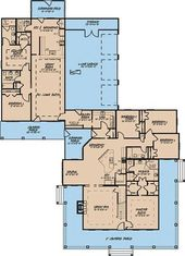 Plan 70524MK: 4-Bed Country Farmhouse Plan with 2-Bed Apartment