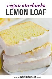 If you like Starbucks Lemon Loaf, you will love this VEGAN copycat lemon loaf! T…