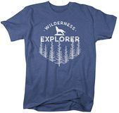 Men's Wilderness Explorer T Shirt Wanderlust Shirts Wolf Nature Shirt Hipster Shirts Wanderlust Shirt Camping Tee – Products