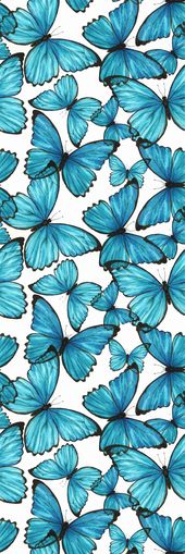 Removable Wallpaper Self Adhesive Blue Butterflies Nursery Wallpaper Peel & Stick Wallpaper