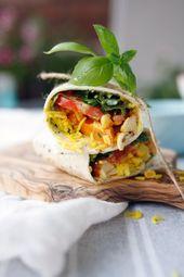 Vegetarische Wraps mit Kurkumareis, Gemüse und Grillkäse – ALL ABOUT FOOD – Rezeptideen deutscher Blogger*
