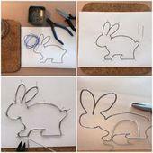 Dieser Hase ist auf Draht – oder – My first Easter bunny