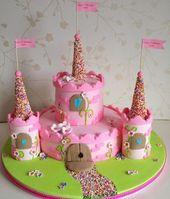 pastel-cumpleaños de niños-motivo-cerrado pasteles-niña-rosa   – Geburtstagskuchen und -torten