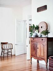 Pressed metal detailing hint at the history of this family farmhouse   – Home
